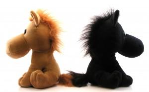 two stuffed horses