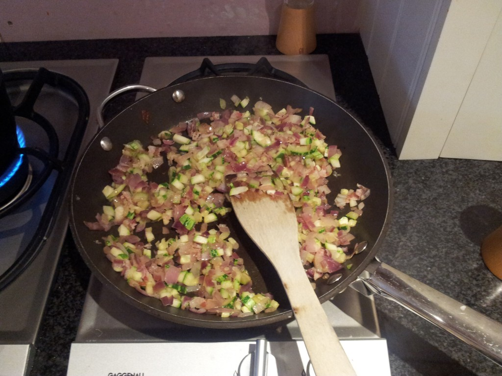 courgettes cooking