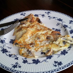 The health kick: cracked pepper mushroom omelette