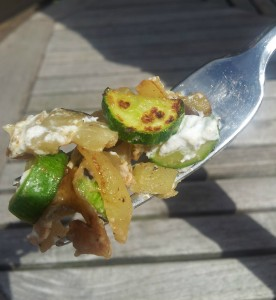 courgette on fork