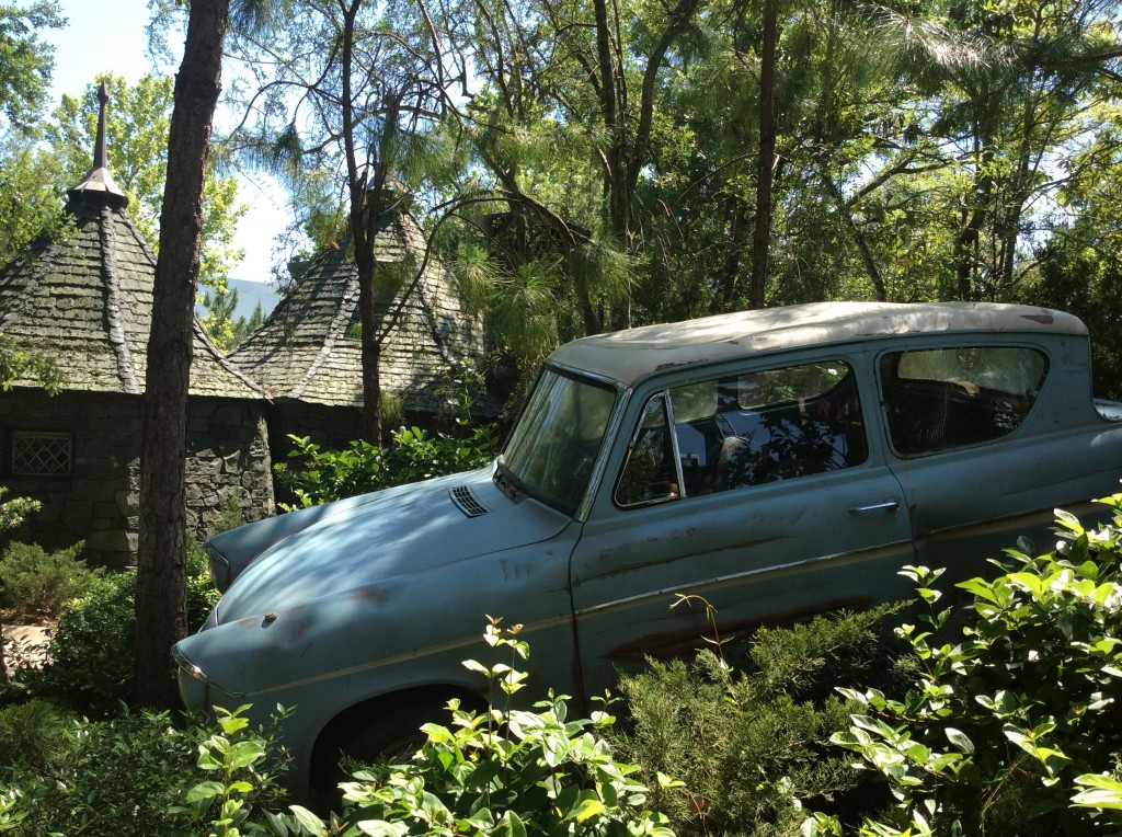 Ron's flying car at Harry Potter world