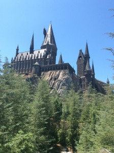 The Hogwarts castle at Harry Potter's Wizarding World